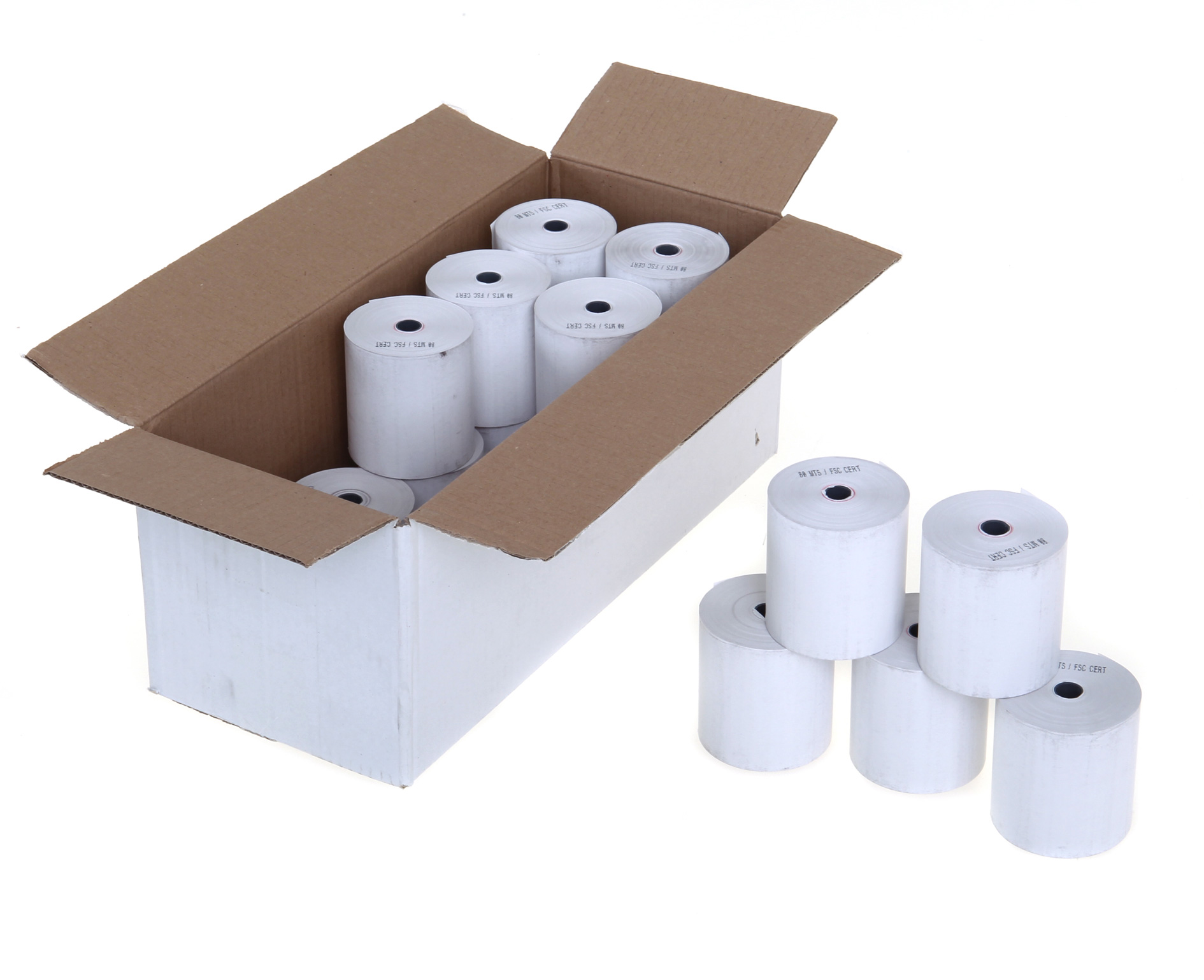80mm x 70mm x 12.7mm - Thermal Till Rolls  - 20 Rolls per box